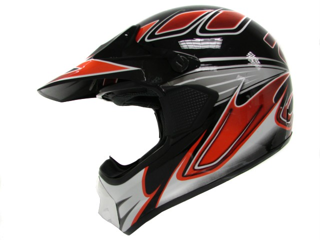 Adult RED/BLACK MX Motocross Motorcross Dirt Bike ATV Off-Road Helmet