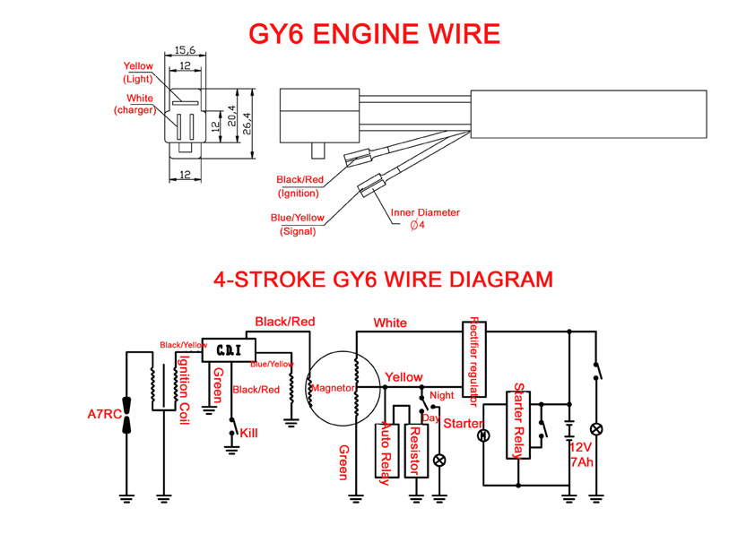gy6 wiring diagram images